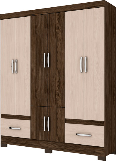CLOSET BE15 06 DOORS AND 02 DRAWERS