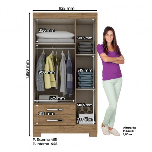 CLOSET BE16 03 DOORS AND 02 DRAWERS